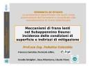 ISOLAMENTO VERSANTI: ricerche e tesi compiute al Politecnico di Bari (Prof.ssa F. Cotecchia)
